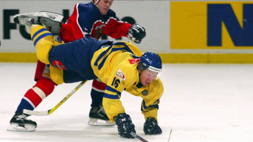 Franzén i Tre Kronor-tröjan 2004.