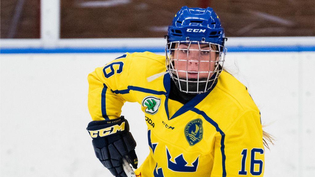 Lova Blom stod för ett mål och en assist i matchen.