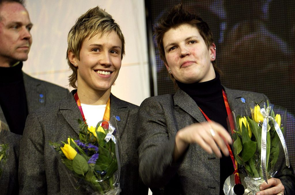 Maria Rooth med Erika Holst.