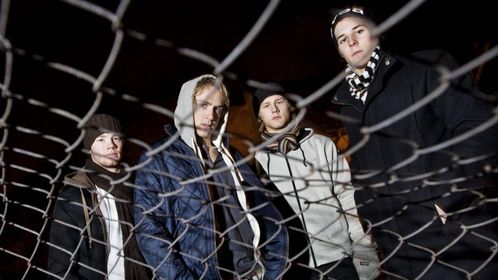 Pojkband? Nej, bara Robin Figren, Carl Hagelin, Oscar Möller och Mario Kempe som står och ser coola ut under JVM i Tjeckien 2007/08.
