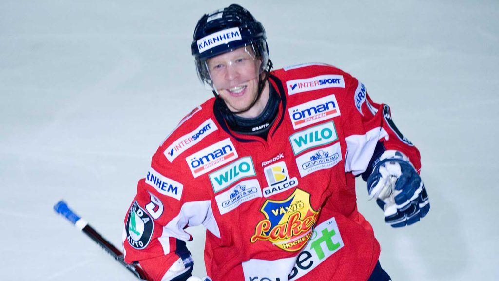 Nicklas Rahm fick en lyckad avslutning på spelarkarriären med SHL-avancemang med Växjö.