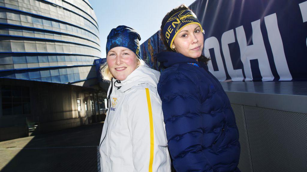 Kim Martin Hasson och Valentina Lizana Wallner vid OS 2014.