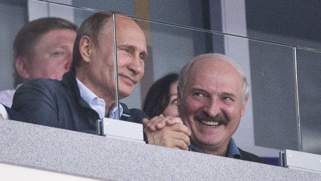 Vladimir Putin och Aleksandr Lukasjenko.