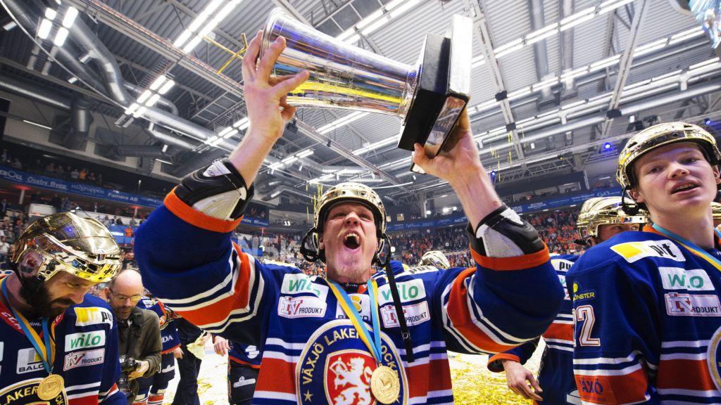 Niclas Lundgren vann SM-guld med Växjö 2015.