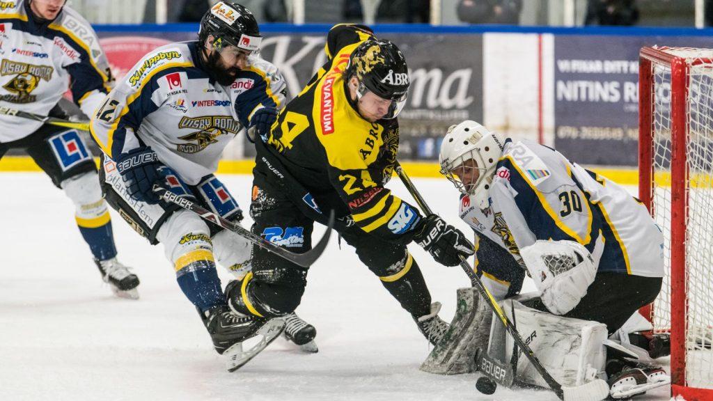 Dennis Fröland under sin tid i Vimmerby i Hockeyettan.
