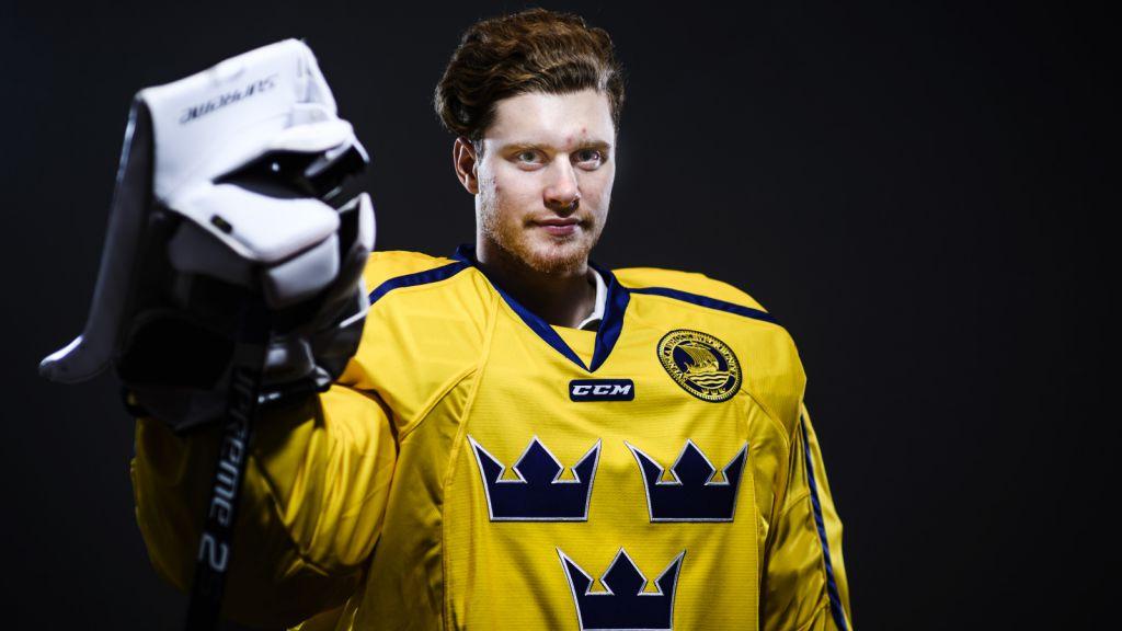 Åhman togs ut till JVM 2019 men fick inte vakta kassen för Juniorkronorna.