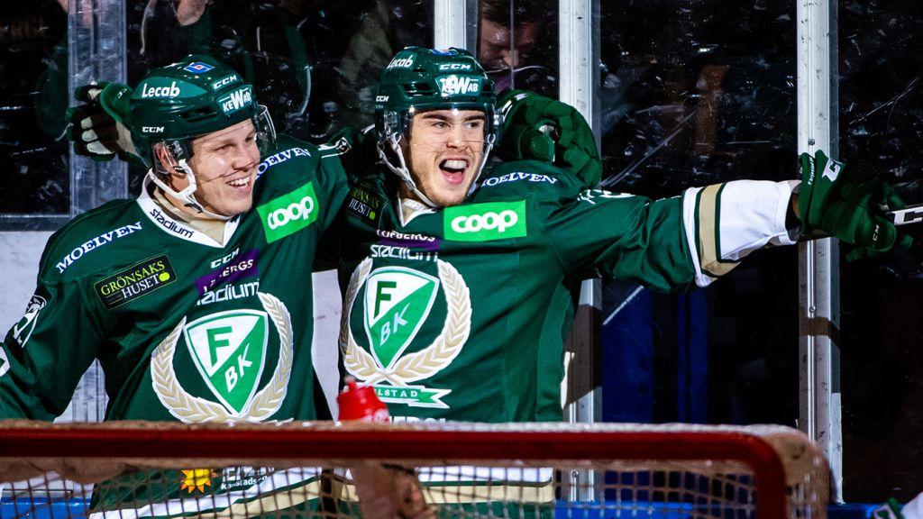 Daniel Viksten och den nu skadade Michael Lindqvist.