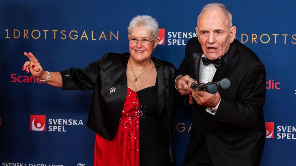 Ulf Sterner med hustrun Pia på Idrottsgalan förra året.