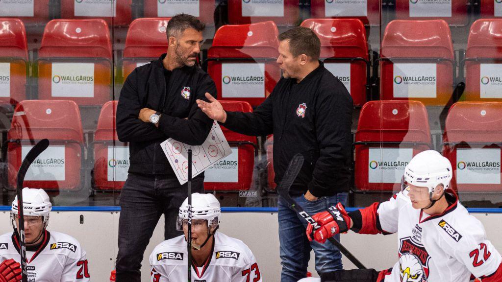Andreas Lilja och Joakim Fagervall tränar Malmö ihop.