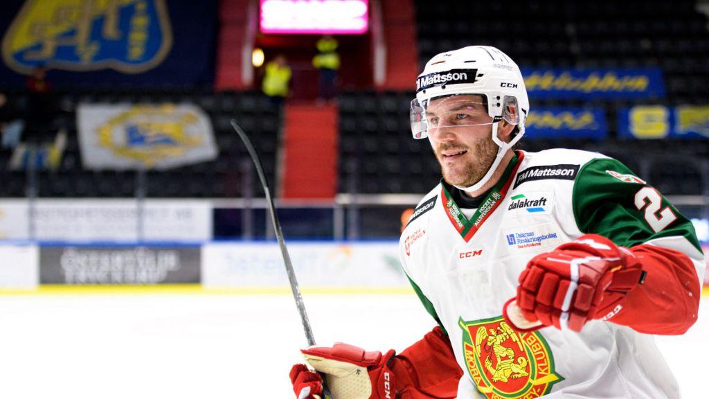 Johan Persson tvåmålsskytt för Mora i segern mot AIK