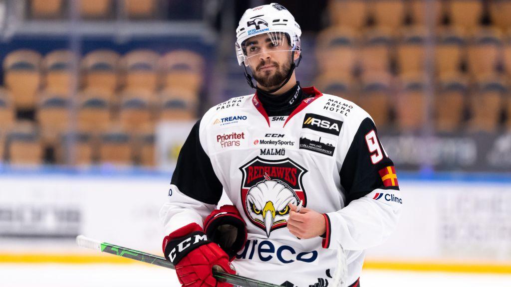 Joe Veleno hoppas utvecklas till en NHL-spelare under sin tid i Malmö.
