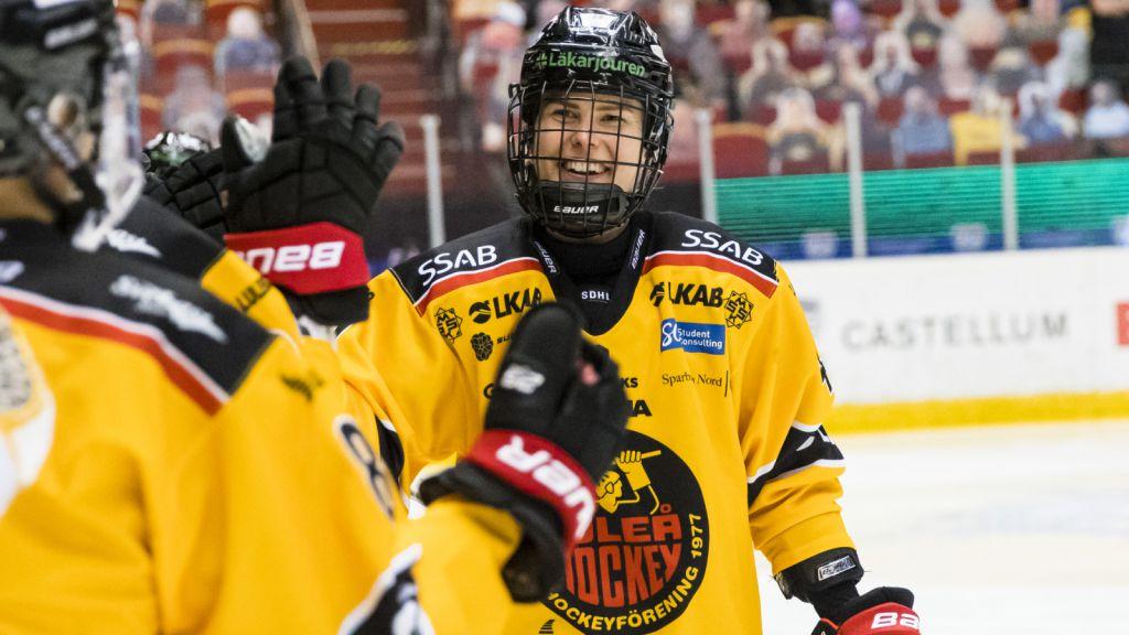 Noora Tulus tvåmålsskytt för Luleå i segern mot SDE