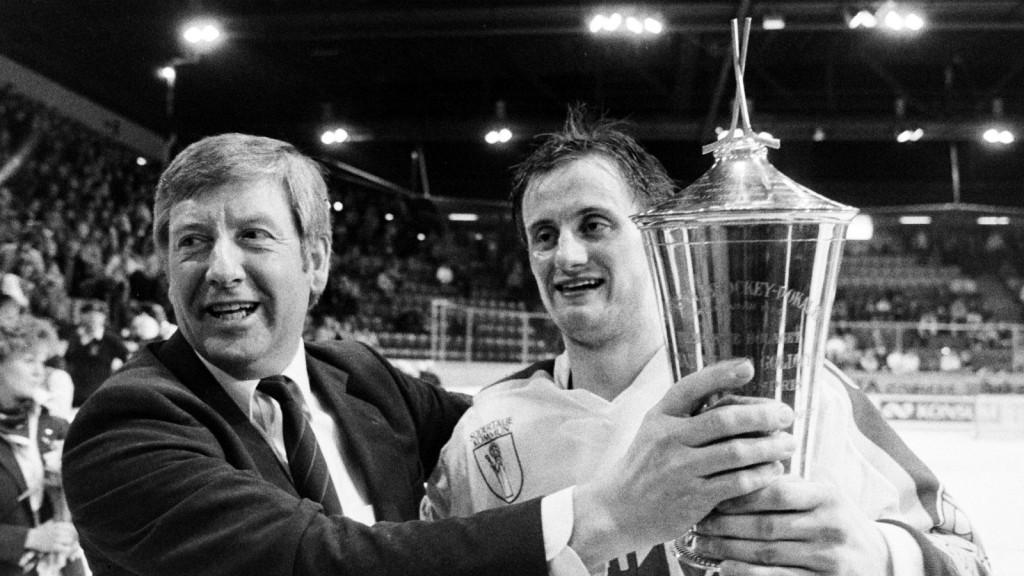 Anders Eldebrink efter SM-guldet 1985.