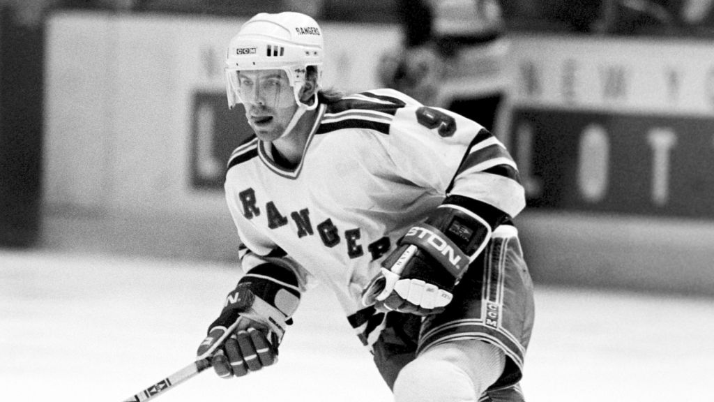Ulf Dahlén i New York Rangers färger 1989.