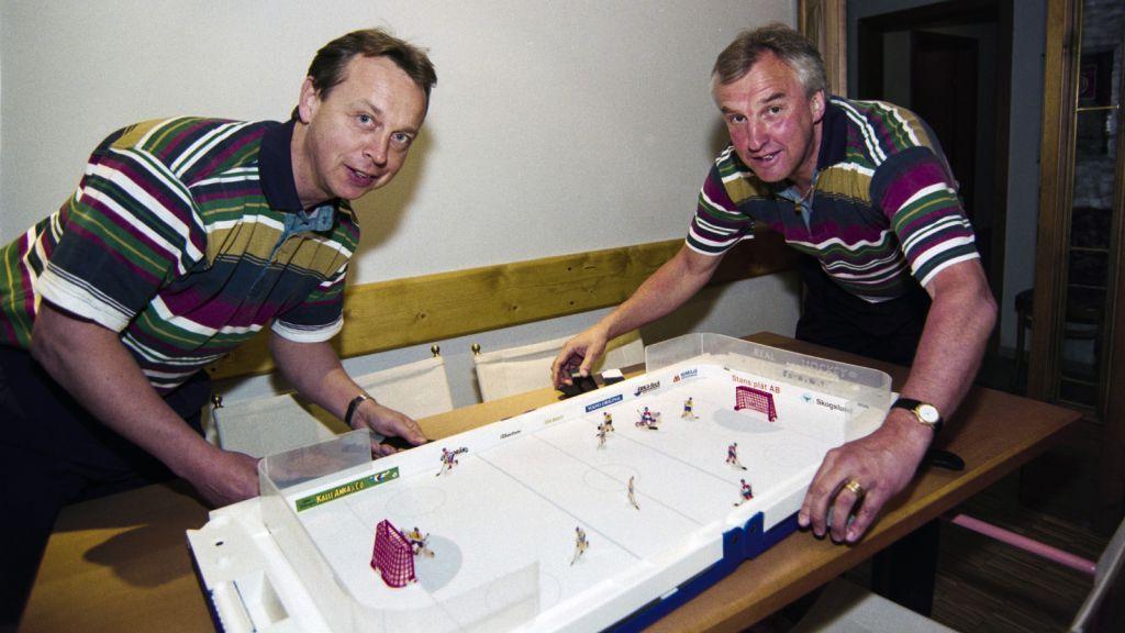 Pär Mårts och Curre Lundmark under OS i Lillehammer 1994.