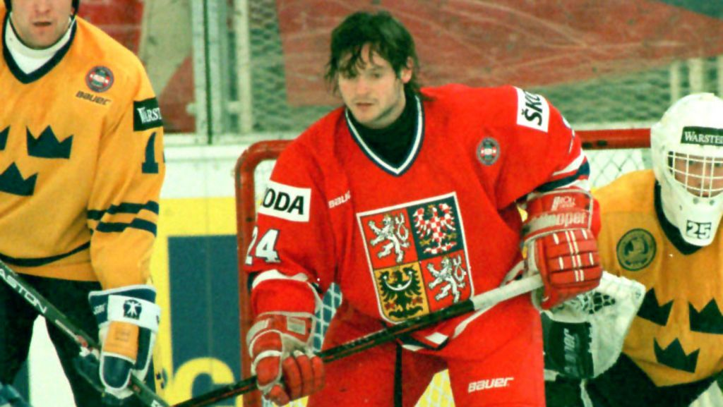 Otakar Vejvoda i en match mot Sverige i VM 1996.