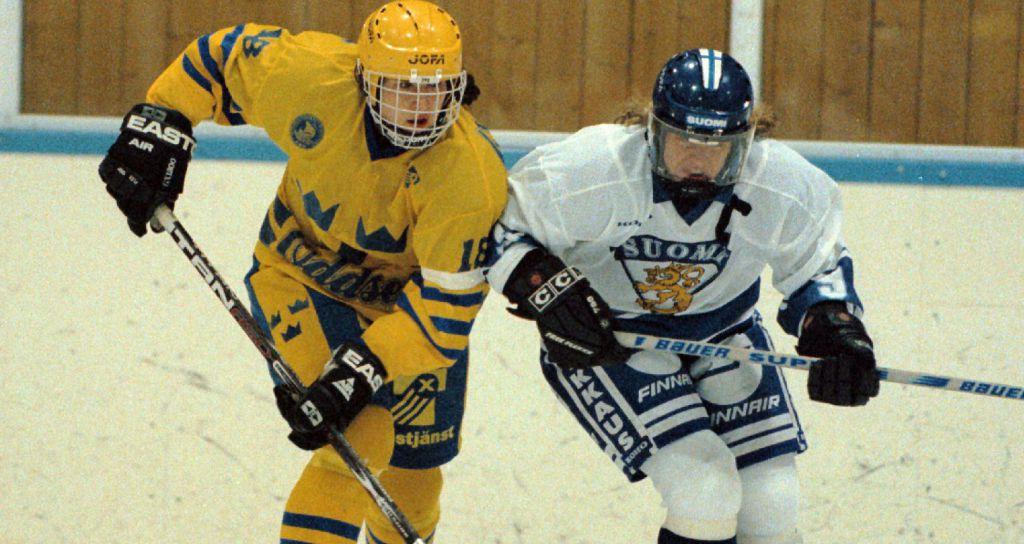 Åsa under en match mot Finland 1997.