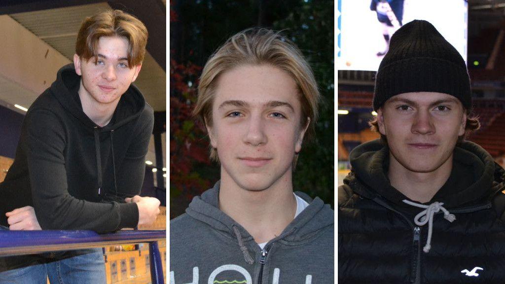 Isak Rosén, Arvid Eljas och Erik Hedlund.