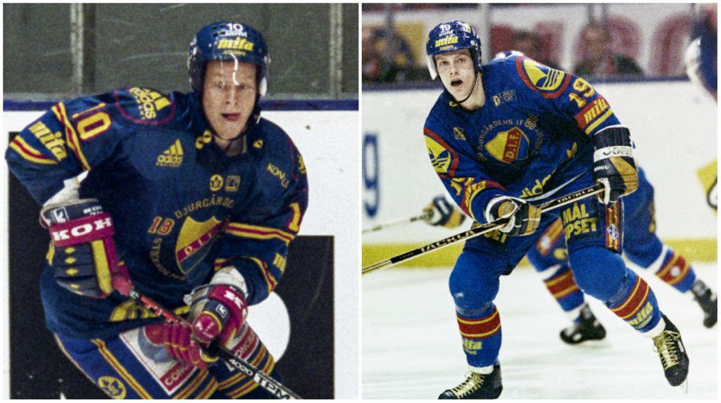 Marcus Ragnarsson och Mats Sundin var två unga talanger i Djurgården.