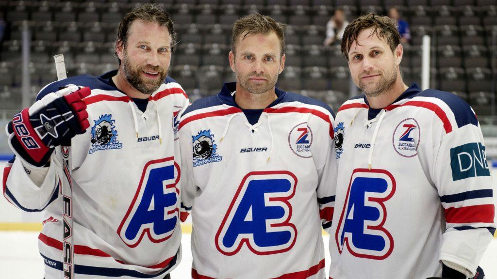 Peter Forsberg, Niklas Sundström och Markus Näslund tillsammans i Icebreakers