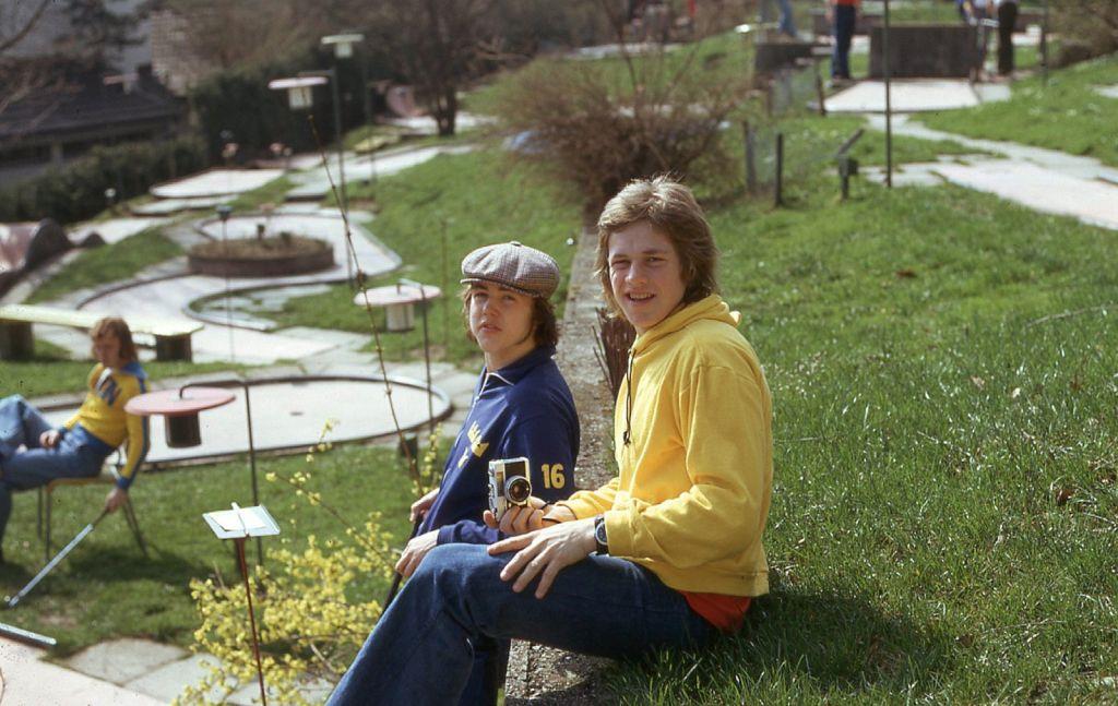 Bosse Berglund och Kenta Nilsson i samband med JVM 1975.