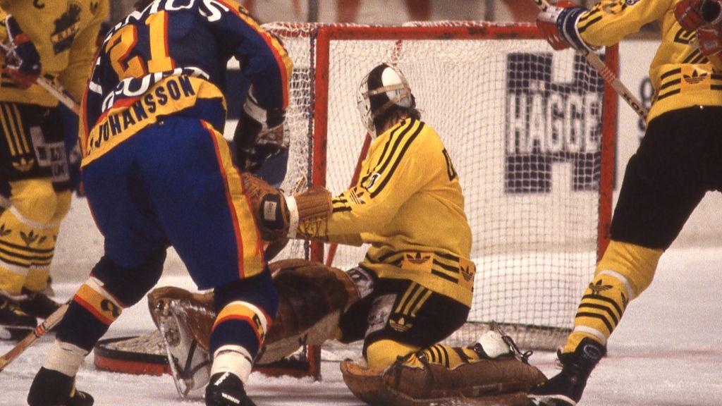 Pelle Lindberg under sin enda elitseriesäsong 1979/80.