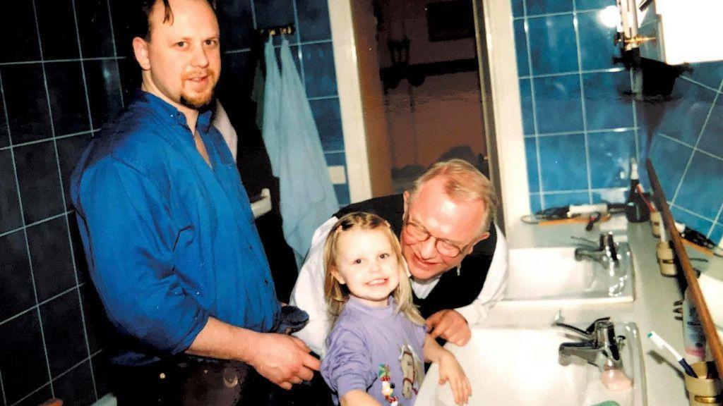 Michelle Löwenhielm och pappa Magnus.