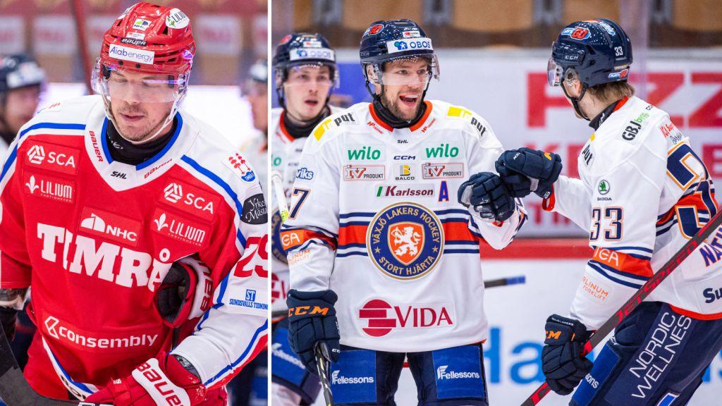 Växjö kör över Timrå: 5-1 efter första perioden