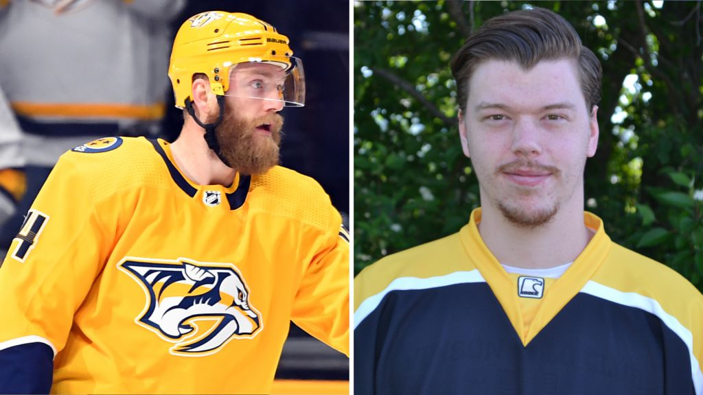 Storebror Mattias Ekholm och lillebror Markus Ekholm Rosén.