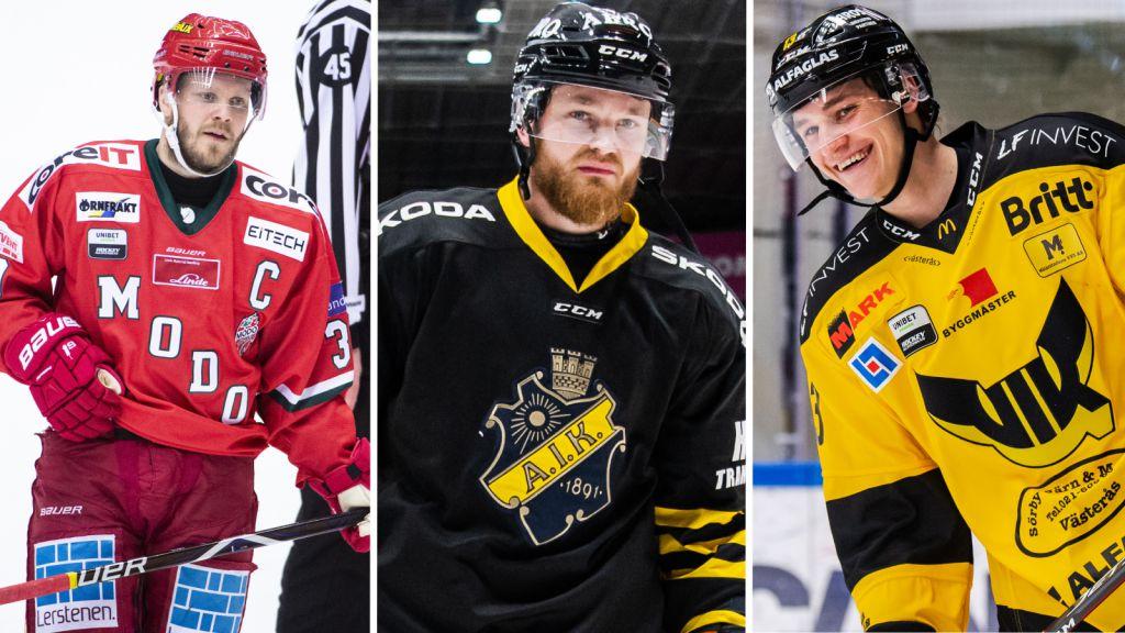 LISTA: Alla klubblösa spelare i Hockeyallsvenskan