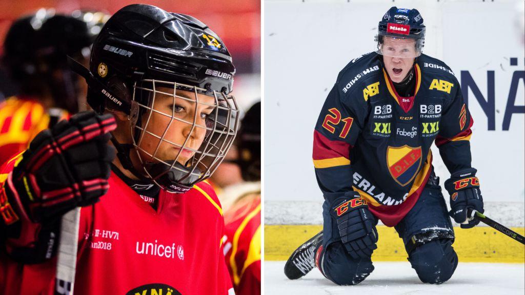 Caroline Markström och Andreas Engqvist är två spelare som tvingats avsluta sina hockeykarriär på grund av hjärnskakningar.