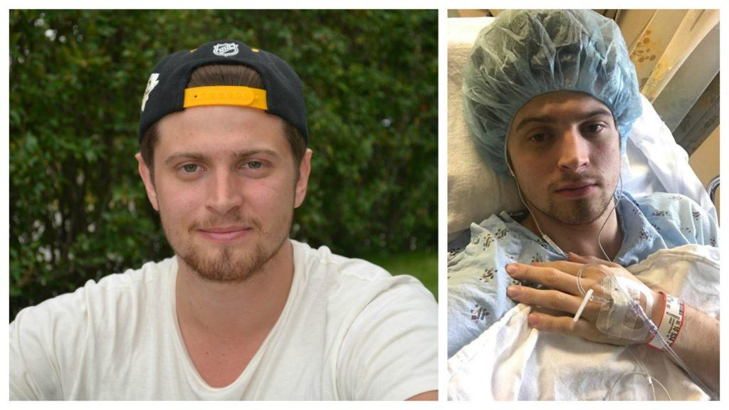 Lukas Bengtsson hamnade på sjukhus under sitt första år i USA.