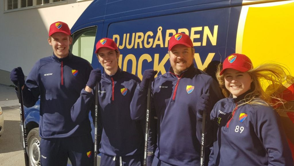 Fyra instruktörer från Djurgården.