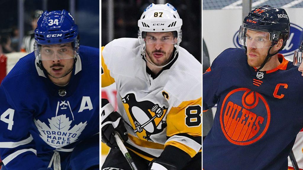 Matthews, Crosby och McDavid.