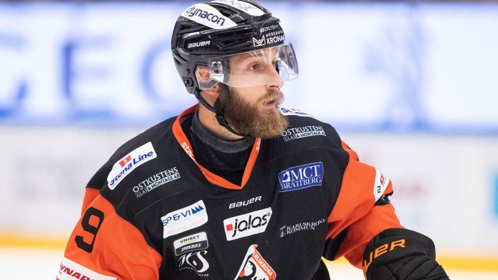 Måns Hermansson under sin tid i Karlskrona 2019.