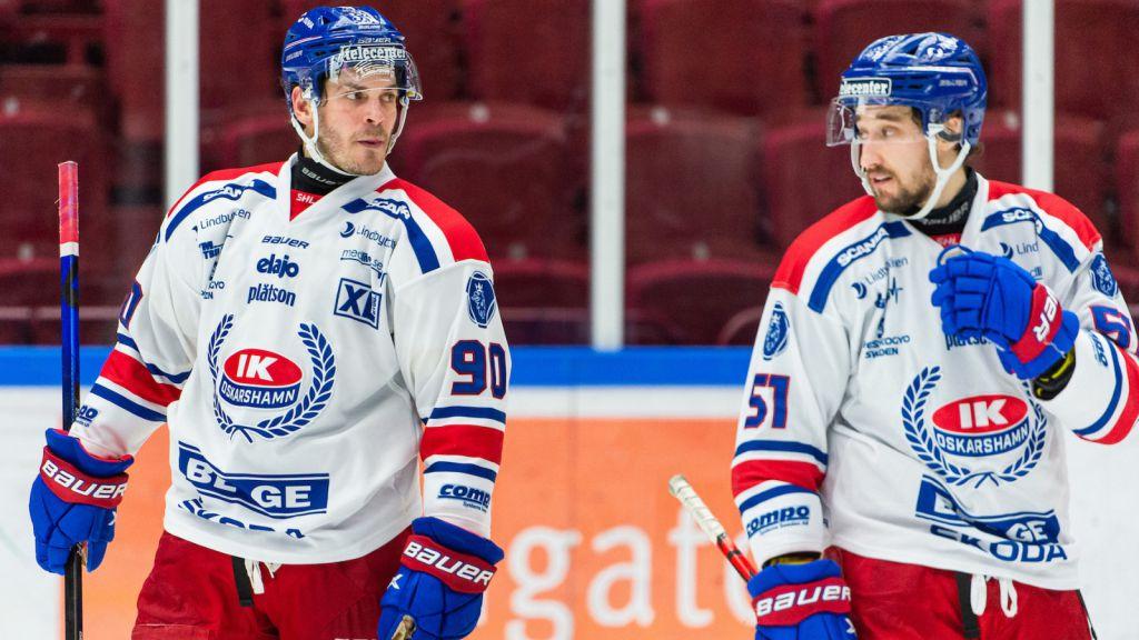 Max Veronneau och Lance Bouma efter en match mot Malmö under våren.