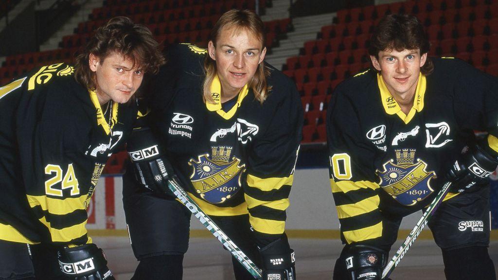 Otakar Vejvoda med Pavel Patera och Martin Procházka i AIK.