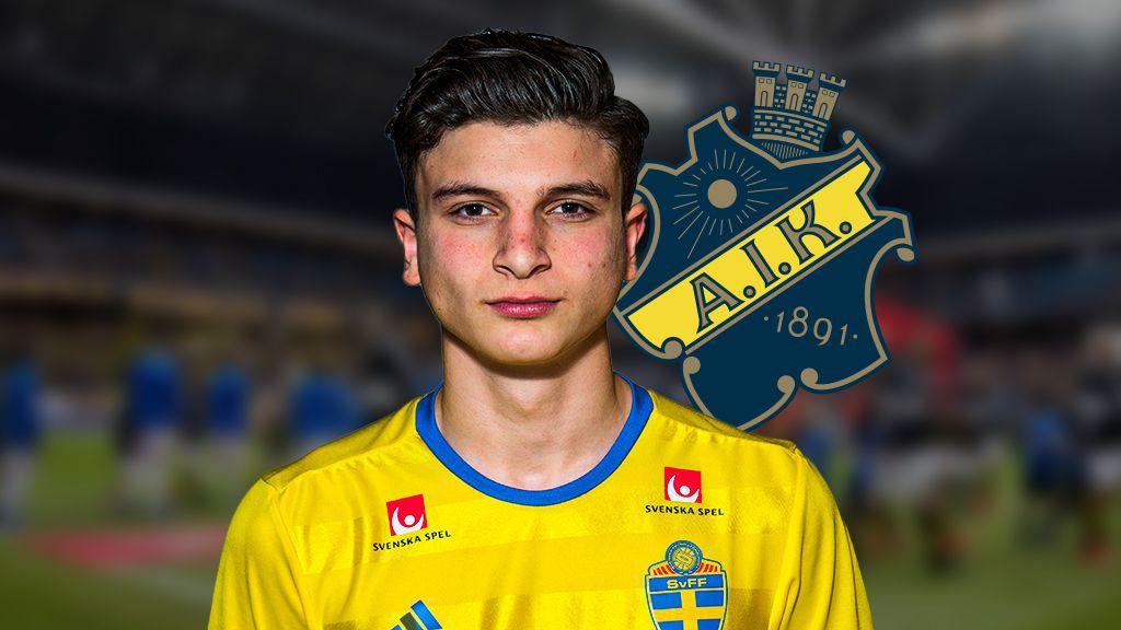 Lämnade Italien - nu tränar talangen med AIK