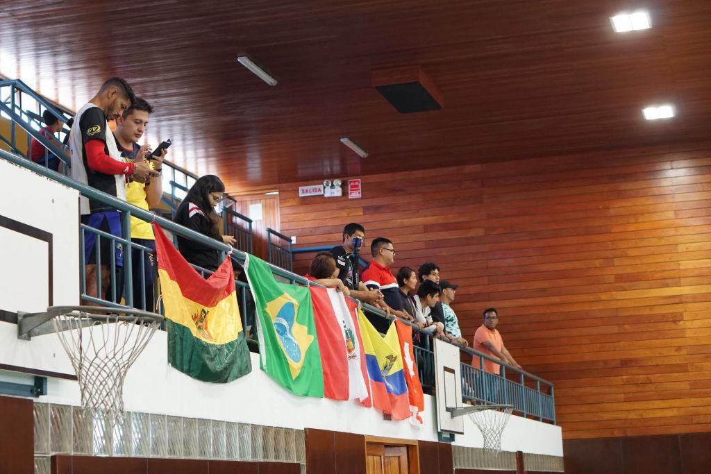 De fyra turneringsdeltagarnas flaggor.