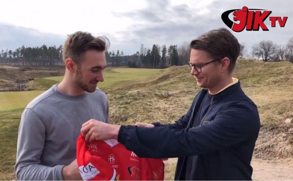 TV: Filip Björk välkomnas till Jönköping