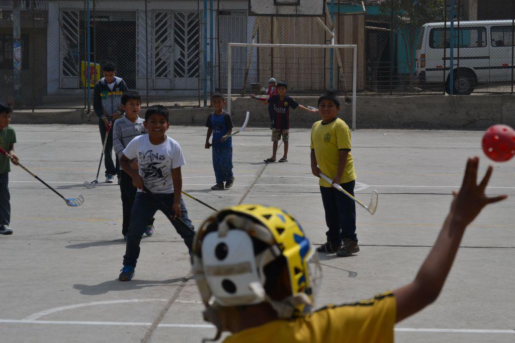 Målvaktsutkast i Peru.