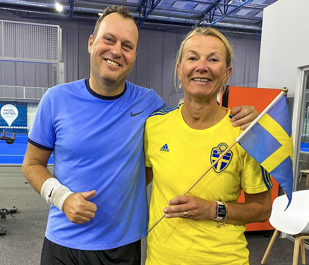 Förbundskaptenerna Dan Andersson och Birgitta Bengtson.