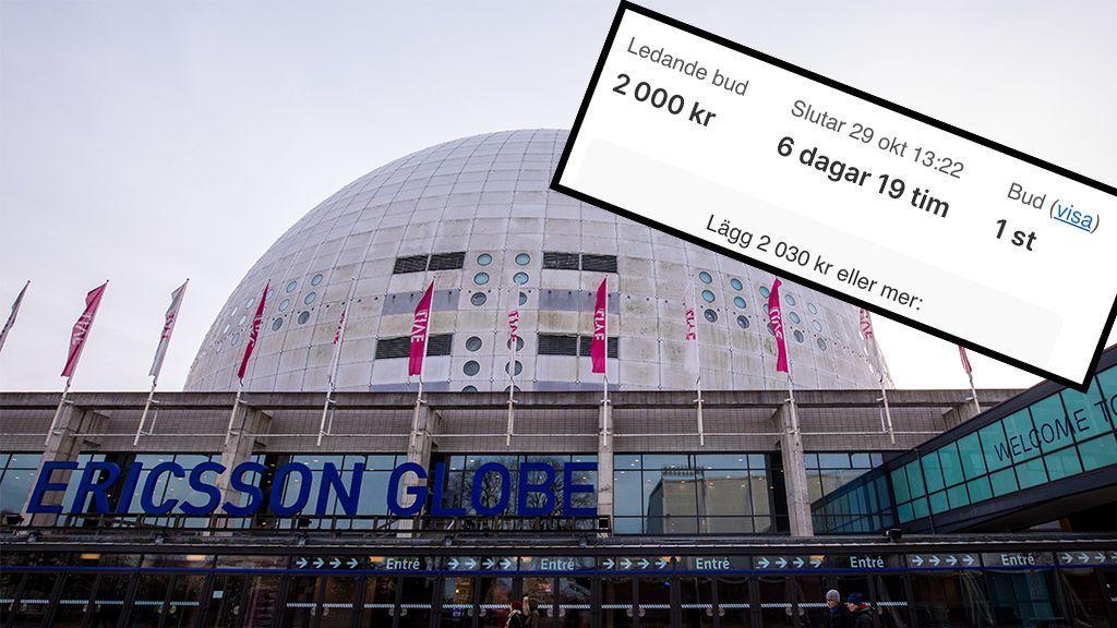 Budet för padeltid i Globen — 2000 kronor