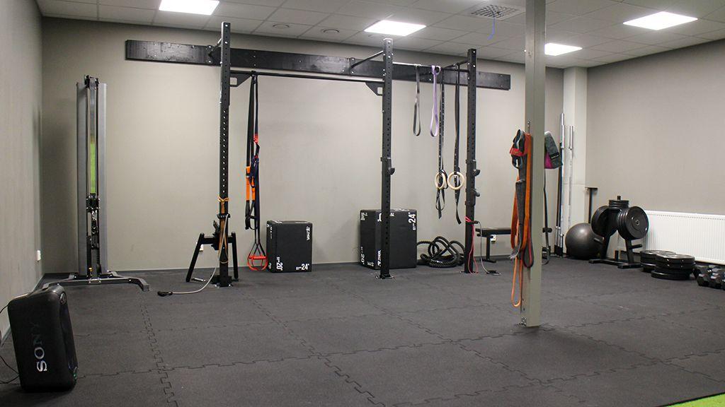 Delar av gymmet.